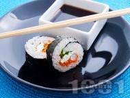Суши Футо Маки със скариди и зеленчуци